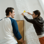 How to Hang Pictures on a Slanted Wall