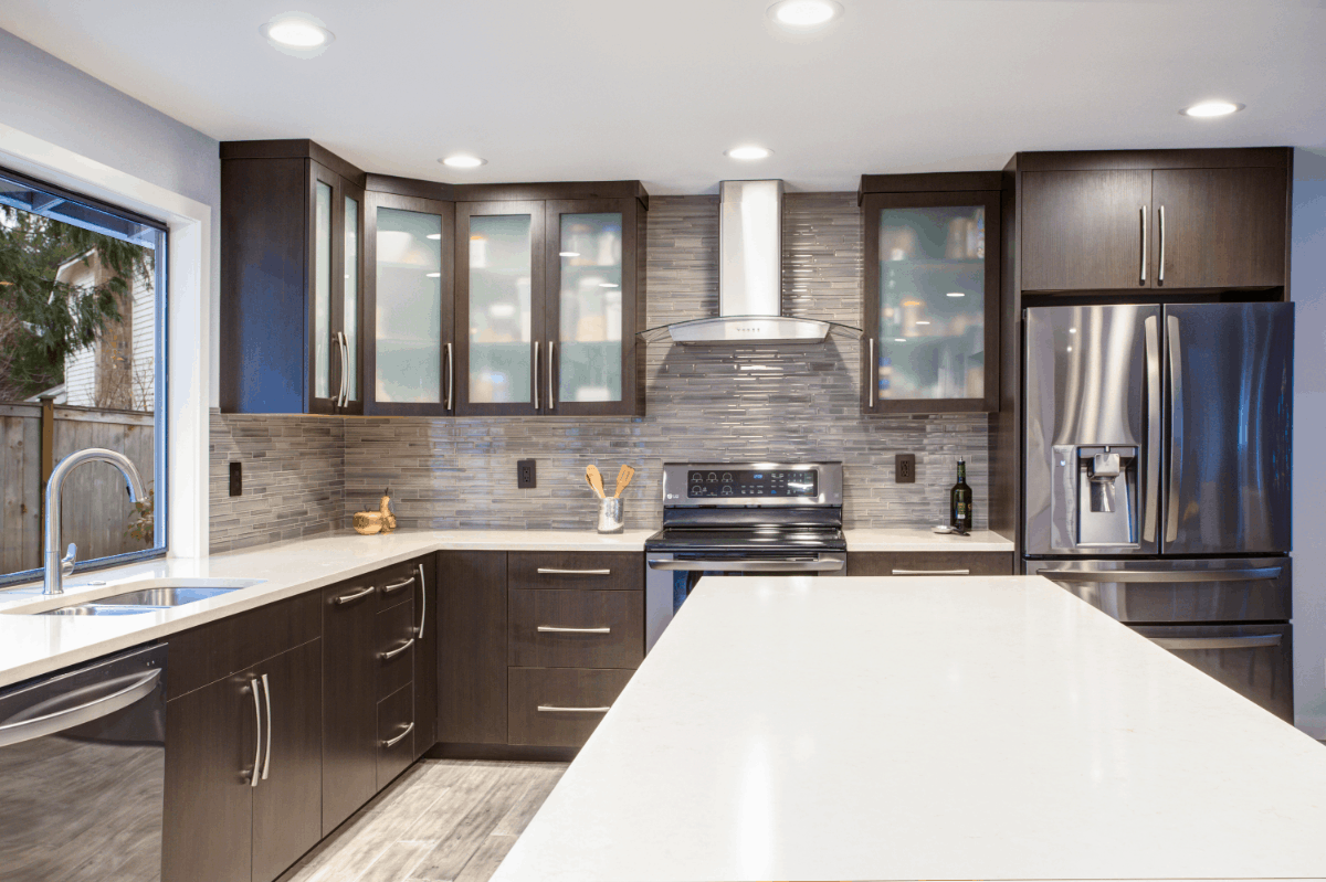 White Kitchen Cabinets With Glass Doors Ideas Home Decoratory