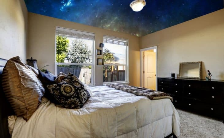 How To Make Your Ceiling Look Like Space!