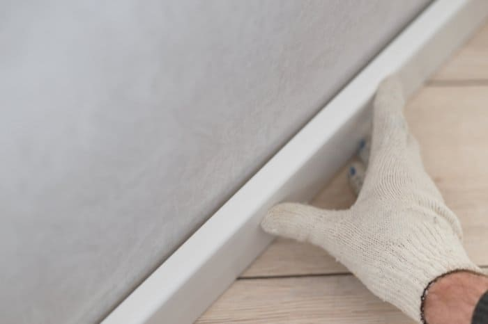 How To Finish Side Of Stairs By Fitting A Skirting Board